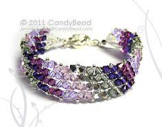 Simply Silver Amethyst Swarovski Crystal Bracelet by candybead, $20.00