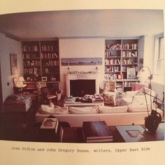 Joan Didion's living room in New York City