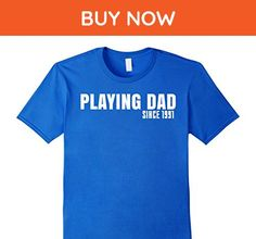 Mens Playing Dad Since 1991 T Shirt XL Royal Blue - Relatives and family shirts (*Amazon Partner-Link)