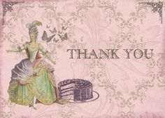 Marie Antoinette Pearlized Thank You Cards for by anistadesigns, $28.00
