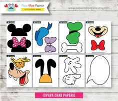 Instant Download / 14 Pieces Disney Inspired by PapaCrabPaperie, $9.75