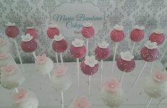 Pink and white blossom cakepops