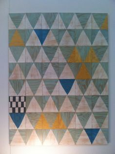#ICFF Finds: Painted plywood removable wall tiles from Moonish