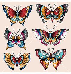 67 Ideas tattoo old school arm american traditional flash art Tattoo Old School, Old School Tattoo Designs, Traditional Butterfly Tattoo, Neo Traditional Tattoo, American Traditional Tattoos, Body Art Tattoos, New Tattoos, Sleeve Tattoos, Tatoos