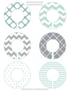 Closet Dividers Printable-I always see closet dividers for babies, to help mums sort out the sizes - but I wanted them for my closet!-I thought this would be a great idea to help divide work clothes, casual clothes, etc!- Click on the image to enlarge- save as!