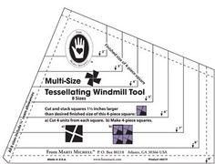 Multi Size Tessellating Windmill Tool One Piece Size