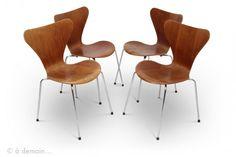 Chaise série 7 par Arne Jacobsen pour Fritz Hansen, 1966