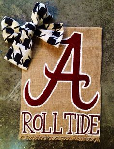 Alabama Roll Tide Burlap Garden Flag by WORLEYdesigns on Etsy
