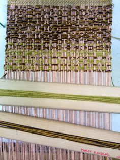 Interesting weave on a 8 shaft dobby loom, decay. Isabel Fuglsang
