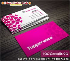Tupperware, Business Cards Online, Free Business Cards, Visiting Card Printing, Self Branding, Card Templates, Card Holder, Graphic Design, Free Shipping