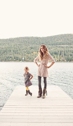 Fall 2012 Mom & Daughter Family Photos by Lemaire Photography taken in Donner Lake, CA