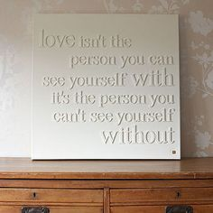 wooden letters on glued to canvas and then painted. Great idea for quotes and sayings! Great Quotes, Quotes To Live By, Me Quotes, Inspirational Quotes, Diy Canvas, Love Canvas, Blank Canvas, Canvas Art, Diy Wall Art