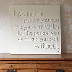 DIY- love canvas