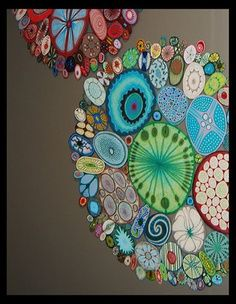 Warm and cool color with pattern, collaborative art project.