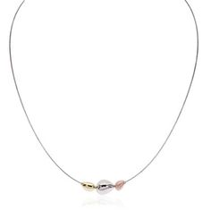 This elegant omega collar is sculpted in sterling silver with a trilogy of mishapen baubles fallen to the front of this neckpiece. The baubles are lav
