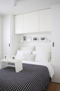 Znalezione obrazy dla zapytania sypialnia zabudowa nad lozkiem