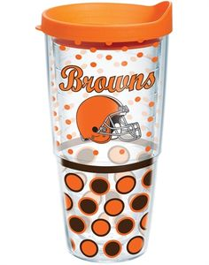 NFL® | Cleveland Browns | Polka Dot Wrap with Lid | Tumblers, Mugs, Cups | Tervis