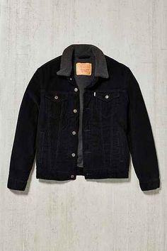 UrbanOutfitters, Levi's Corduroy Sherpa Trucker Jacket #trucker #jacket #man