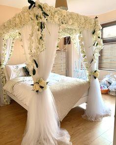 Bridal Room Decor, Romantic Room Decoration, Wedding Room Decorations, Cute Bedroom Decor, Shabby Chic Decor, Master Bedroom Interior, Dream Bedroom, Valentines Decoration, Diy Room Decor Videos