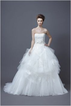 Leave Everyone Breathless in Enzoani #Wedding #Dresses. To see more wedding fashion trends: www.modwedding.com