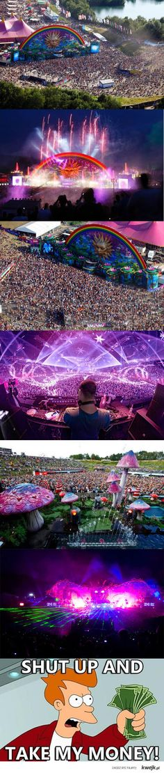 Tomorrowland, biggest music festival in the world.