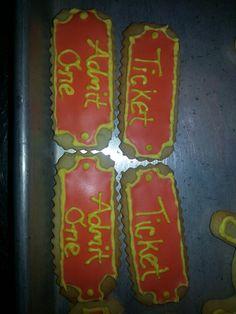 Carnival ticket cookies