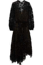 Good Times wrap-effect fil coupé silk maxi dress