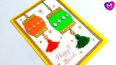Diwali greeting cards latest design handmade   Diwali greeting card maki... Diy Diwali Cards, Diwali Greeting Card Making, Handmade Diwali Greeting Cards, Diy Diwali Decorations, Diwali Diy, Diwali Craft, Handmade Decorations, Diwali Activities, Diwali Greetings