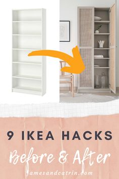 See some amazing transformations with these Ikea hacks. From bare Ikea products to stylish pieces of furniture with some creative ideas. These Ikea hacks will blow you away! Ikea Furniture Hacks, Diy Furniture Projects, Home Furniture, Ikea Hacks, Ikea Makeover, Furniture Makeover, Home Office Decor, Diy Home Decor, Design Home Hack