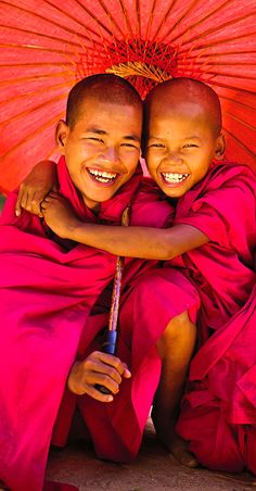 Novice monks . Myanmar
