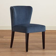 Navy Chloe Curved Dining Chair, Set of 2