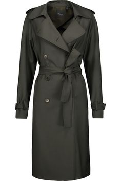 THEORY Laurelwood Wool-Blend Trench Coat. #theory #cloth #coat