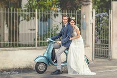 Blue shabby chic wedding