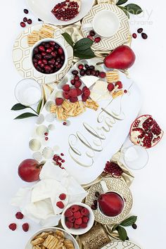 Gold and white Celebrate Serving Tray. Product Styling and photography by Shay Cochrane 2013.  www.shaycochrane.com  Oval serving platter design by Libby Lane Press:  www.libbylanepress.com  Serving, home, holiday, gold, entertaining, red and gold, food photography, product photography, product styling, food styling, christmas party, holiday party