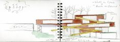 Campbell Sports Center in New York City door Steven Holl - bilder dekoration Steven Holl Architecture, Architecture Sketchbook, Architecture Portfolio, Drafting Drawing, Details Magazine, Built Environment, Point Of View, Architect Design, Designs To Draw