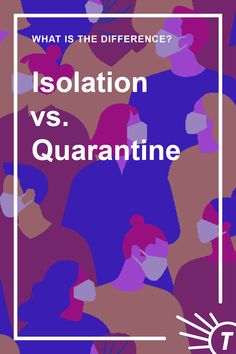 The difference between quarantine and isolation, in public health, comes down to whether someone has been exposed or infected with a communicable disease. Improve Your Vocabulary, What Is Social, Different Words, When Someone, Meant To Be, Improve Yourself, Language, Medical, Sayings