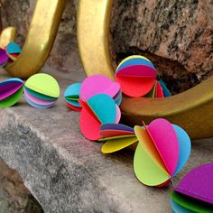 Neon Paper Sphere Garland by julamade on Etsy, $27.00