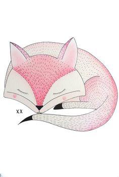 vos illustratie   fox illustration   www.kinderkamervintage.nl