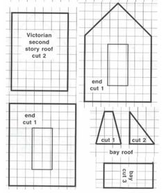 Free gingerbread victorian house patterns joy studio for Victorian gingerbread house plans