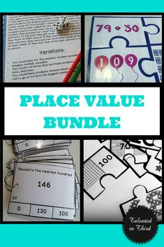 Place Value Bundle - Third Grade Place Value Math Activities, Back to School Ready with Grade Math Unit Addition, Rounding, Subtraction. Place Value Worksheets, Place Value Activities, All About Me Activities, Back To School Activities, Math Activities, School Ideas, 3rd Grade Reading, Third Grade Math, Reading Comprehension Activities