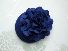 Blue Felt Hat - Blue Hat, Peony Flower, Fascinator, Blue Fascinator, Cocktail Hat, Womens hat, Formal hat, Wedding hat