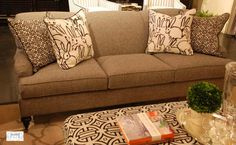 The English rolled arm sofa is a classic that never goes out of style. I'm loving it for 2016!