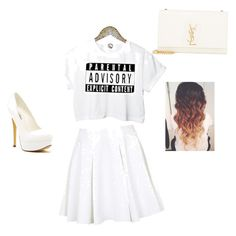 """Stop don't talk to me"" by nanathefunniest ❤ liked on Polyvore featuring косметика, Topshop, Michael Antonio и Yves Saint Laurent"