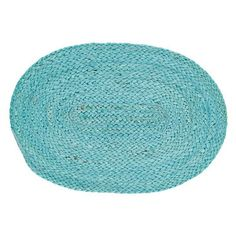 """Teal Braided Placemat 12x18"""""""