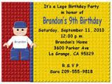 Image result for lego party invitations