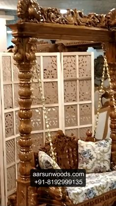 Wooden Swings / Jhoola Large and Small, suitable for Indoors as well as Outdoors. Bedroom Furniture Design, Grand Furniture, Wall Lighting Design, Modern Home Furniture, Luxurious Bedrooms, Room Door Design, Bedroom Door Design, Pooja Room Door Design, Door Design Wood