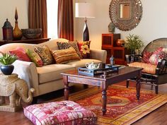 Cool ethnic/eclectic living room