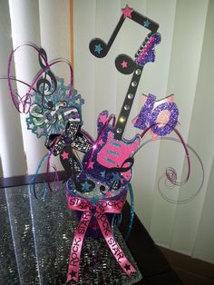 Birthday Girl Rock Star Guitar Musical by CreativeMoments4You