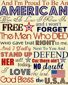 Free printable -- just pop it in a frame for patriotic decor!