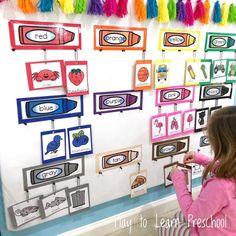 Kindergarten Bulletin Boards, Interactive Bulletin Boards, Preschool Classroom Decor, Interactive Walls, Preschool Bulletin Boards, Preschool Colors, Classroom Bulletin Boards, Preschool Learning, Preschool Activities